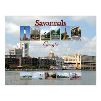 Vistas de la sabana Georgia Tarjeta Postal