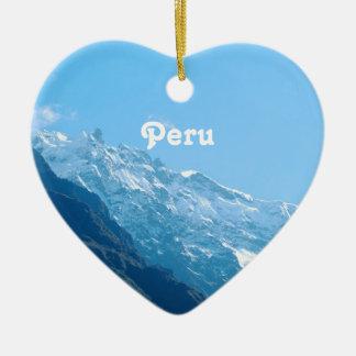 Vistas de Perú Adorno De Cerámica En Forma De Corazón