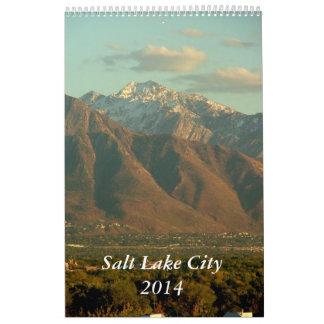 Vistas de Salt Lake City 2014 Calendarios De Pared