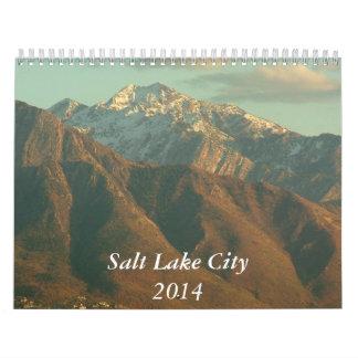 Vistas de Salt Lake City - 2014 Calendarios De Pared