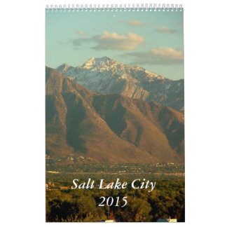 Vistas de Salt Lake City 2015 Calendario De Pared