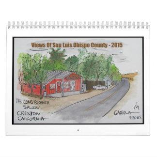 Vistas del condado de San Luis_obispo Calendarios