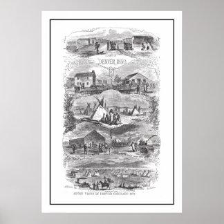 Vistas del poster 1859 de Denver Póster