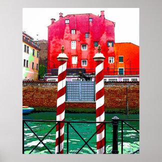 Vistas del poster de Venecia Italia