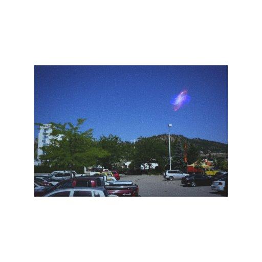 vistas del strage en el cielo impresión de lienzo