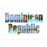 Vistas del turista de la República Dominicana en l Tarjetas Postales