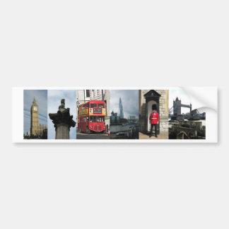 Vistas del turista de Londres Inglaterra Pegatina Para Auto