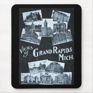Vistas del vintage de Grand Rapids Michigan Alfombrilla De Ratón