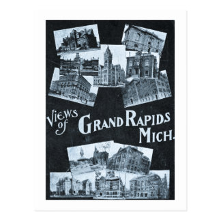 Vistas del vintage de Grand Rapids Michigan Postales