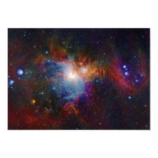 VISTA's infrared view of the Orion Nebula 5x7 Paper Invitation Card