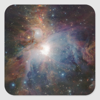 VISTA's infrared view of the Orion Nebula Square Sticker