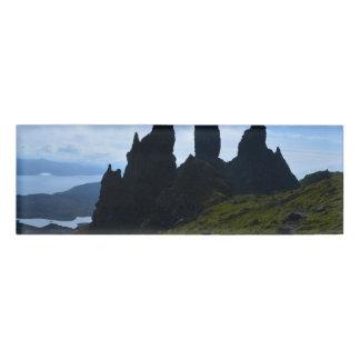 Vistas magníficas de la isla de Skye Chapa Identificatoria
