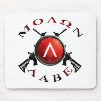 Vistas/Molon Labe del hierro Mouse Pads