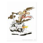 Vistazo de E. Coyote Crazy del Wile Tarjetas Postales