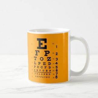 Visual Acuity Test: Retro Ophthalmology Eye Chart Coffee Mug