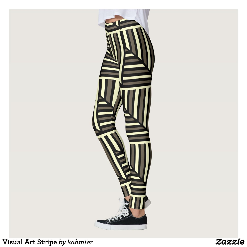 Visual Art Stripe Leggings