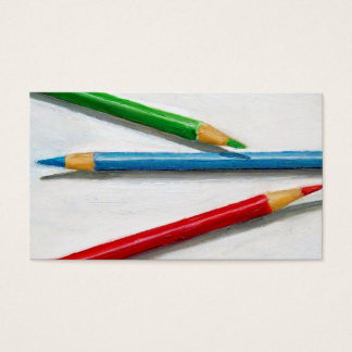 Visual Artist Business Card: Color Pencils Business Card