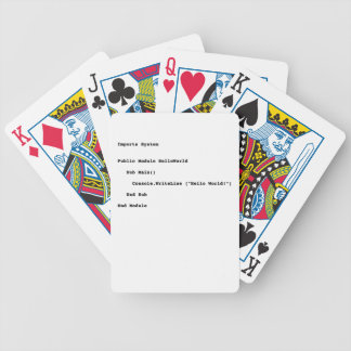 Visual Basic Hello World Greeting Bicycle Playing Cards