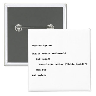 Visual Basic Hello World Greeting Buttons