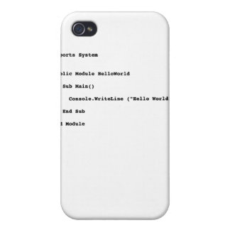 Visual Basic Hello World Greeting iPhone 4/4S Case