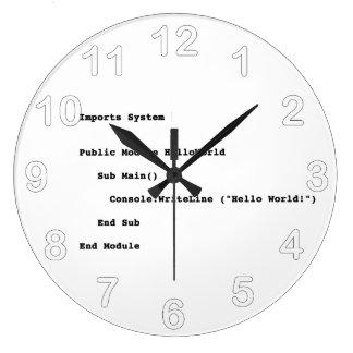 Visual Basic Hello World Greeting Large Clock