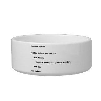 Visual Basic Hello World Greeting Cat Water Bowls