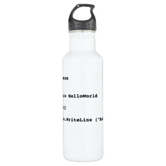 Visual Basic Hello World Greeting Water Bottle