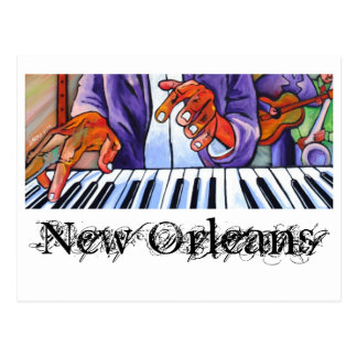 Visual Blues: Artist Cards: New Orleans Postcard