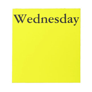 Visual Calendar Tool Day of the Week Wednesday Notepad