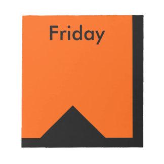 Visual Calendar Tools Day of the Week Friday Notes