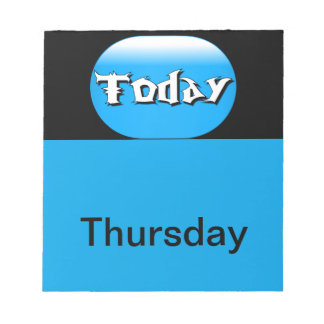 Visual Calendar Tools Day of the Week Thursday Notepad