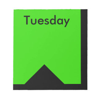 Visual Calendar Tools Day of the Week Tuesday Note