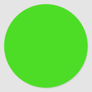 Visual Identifiers Nothing But Color Bright Green Classic Round Sticker