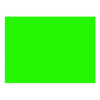 Visual Identifiers Nothing But Color Bright Green Postcard