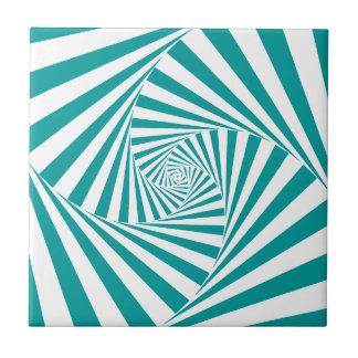 Visual Illusion Turquoise Ceramic Tile