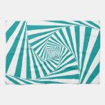 Visual Illusion Turquoise Towel
