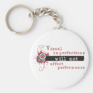 Visual Imperfections Will Not Affect Performance Basic Round Button Keychain