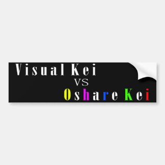 Visual Kei vs Oshare Kei Bumper Sticker