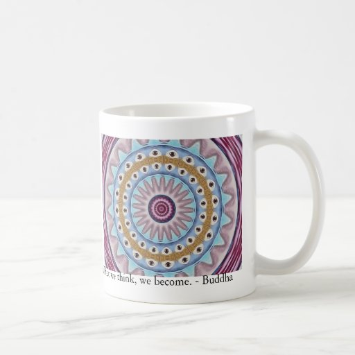 Visual Prayer Design with ZEN Buddhist Quote Coffee Mugs