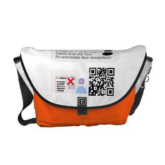 visual privacy bag courier bag
