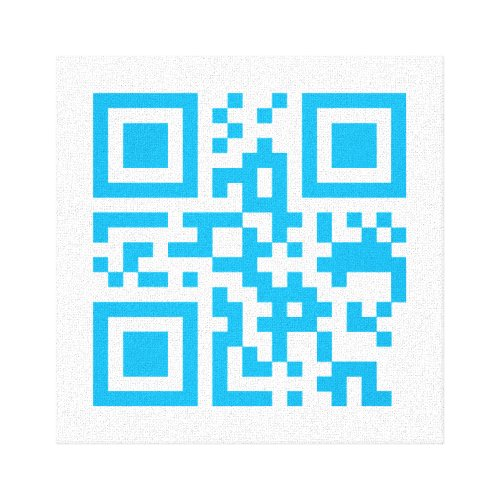Visual QR Code on Premium Wrapped Canvas Gloss