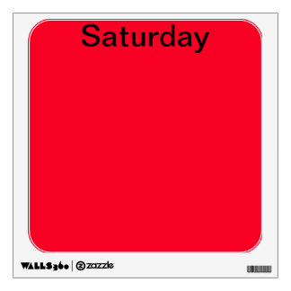 Visual Tools Calendar Days of the Week Saturday Wall Decal