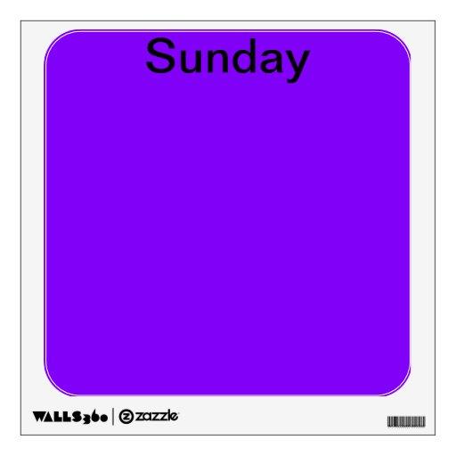 Visual Tools Calendar Days of the Week Sunday Wall Skins