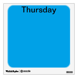 Visual Tools Calendar Days of the Week Thursday Room Graphics