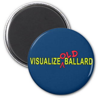 Visualice el VIEJO diseño de Ballard Imán Redondo 5 Cm
