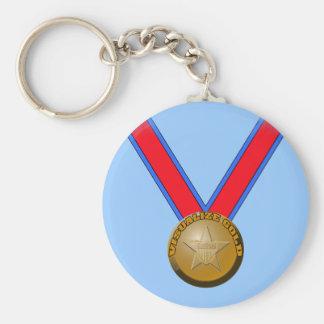 Visualice un funcionamiento de la medalla de oro llavero personalizado