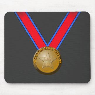 Visualice un funcionamiento de la medalla de oro tapete de ratones