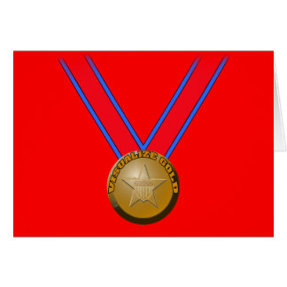 Visualize a Gold Medal Performance Greeting Card