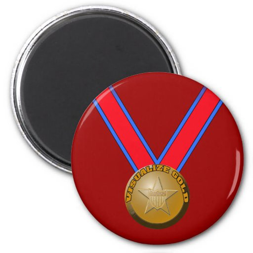 Visualize a Gold Medal Performance 2 Inch Round Magnet