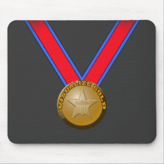 Visualize a Gold Medal Performance Mouse Pad